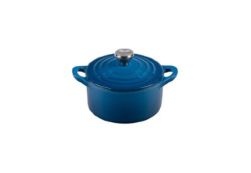 Le Creuset Enameled Cast-Iron Mini Cocotte, 1/3-Quart, Marseille (Le Creuset Small Dutch Oven compare prices)