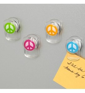 Peace Sign Magnets - Set of 4