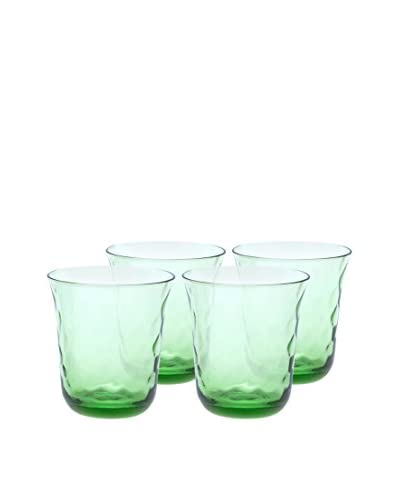 Padma Collection Set of 4 Optic 12.5-Oz. Double Old Fashioned Glasses, Coriander