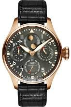 IWC Big Pilot Grey Dial Leather Strap Automatic Mens Watch IW502638