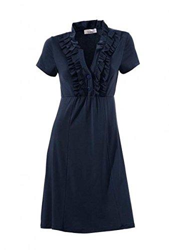 Linea Tesini Designer-Kleid m. Rüschen, dunkelblau Kleider Größe 40