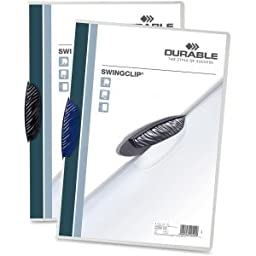 Durable Office Products 226301 Swingclip Report Cover, Letter Size