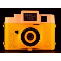 HolgaGlo 120N Plastic Lens Medium Format Camera, Orange Burst