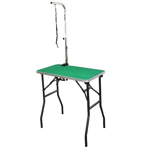 トリミングテーブル/足ブラック/台面グリーン/高さ77~78cm/アジャスター付/折畳機能付