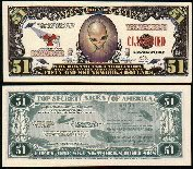 "Alien ""Area 51"" Novelty $51 Dollar Bill Collectible with Quotes in Regards to Ufo"