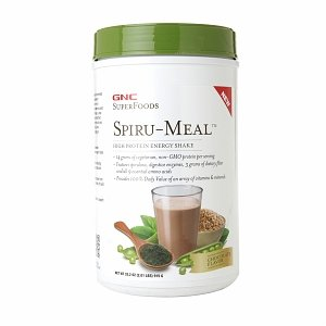 GNC SuperFoods Spiru-Meal High Protein Energy Shake, Chocolate, 1.94 lbs
