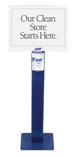 Purell 9010-Ds Alcohol Formulation Sanitizing Wipe Station, Blue front-858023