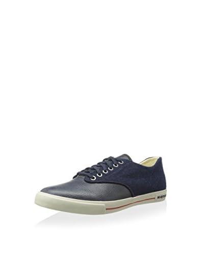SeaVees Men's Hermosa Plimsoll Varsity Low-Top Sneaker