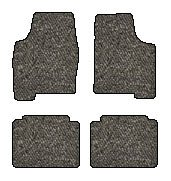 Nissan 710 Berber Floor Mats 4 Pc Set - Fits With Catalytic Converter Only -Dark Gray (1973 73 1974 74 1975 75 1976 76 1977 77 )
