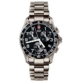 Victorinox Swiss Army Men's 241171 Chrono Classic Black Dial Watch