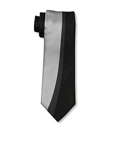 Valentino Men's Modern Tie, Silver/Black