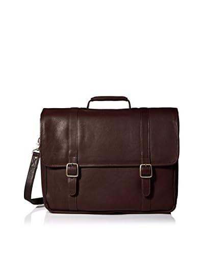 LATICO Men's Wall Street Laptop Briefcase, Cafe