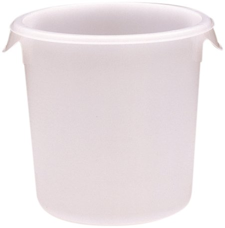 "Rubbermaid Commercial 5721-24 4 Qt Capacity, 8-1/2"" Diameter, 7-3/4"" Height, Clear Color, Polypropylene Round Storage Container front-16745"