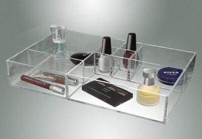 Cosmetic Organizer Tray - 8 Compartment