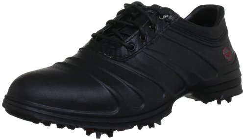 Hi-Tec Golf - Scarpe sportive, Uomo, Nero (Schwarz (Black/Carbon/Red)), 41 (7 uk)