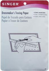 Singer Dressmaker's Tracing Paper Assorted Colors 6/Pkg 3045; 6 Items/Order