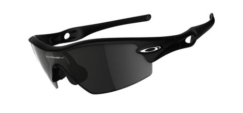 Oakley Men's Radar Pitch Asian Fit Sunglasses,Matte Black Frame/Grey Lens,one size