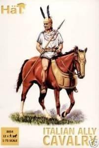 hat 1:72 italian ally cavalry model figures 8054