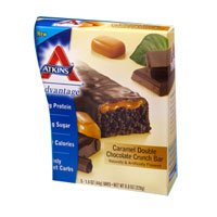 Atkins - Advantage Caramel Double Chocolate Crunch Bars, 5 Bars