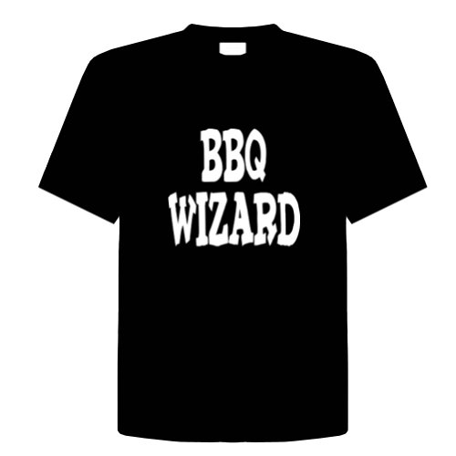 Bbq Wizard Funny T-Shirt Novelty Kitchen, Cooking, Chef, Adult Tee Shirt Size (5X) Xxxxx-Large; Great Gift Idea For Mens, Youth, Teens, & Adults