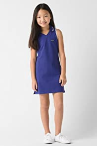 Girl's Sleeveless Super Dry Pique Polo Dress