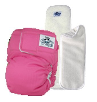 SoftBums Omni One Size Cloth Diaper 3 Piece Set (Bubblegum) - 1