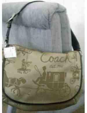 COACH Horse Carriage Cargo Flap Bag F14888