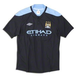 "Manchester City Training Jersey - Black/Vista Blue - S 35-37""/92cm Chest"