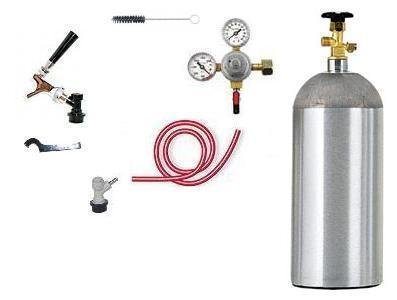1 Tap Chrome Faucet Ball Lock Beer Kegerator Kit w/ Co2 (Low Flat Rate Shipping)