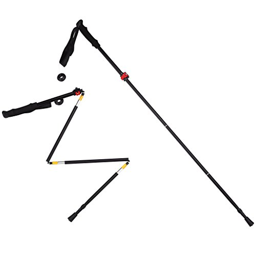 Trekking Pole,53'' Aluminum Folding Collapsible Alpenstocks Ultralight Travel Hiking Climbing Backpacking Walking Trekking Pole Climbing Stick With