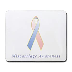 Amazon.com : Miscarriage Awareness Ribbon Mouse Pad : Office Products