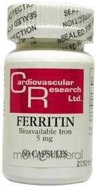 Ferritin Fe 5 mg 60 Capsules by Ecological Formulas