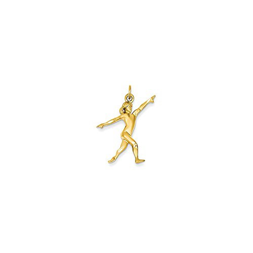 14k Yellow Gold Gymnast Charm