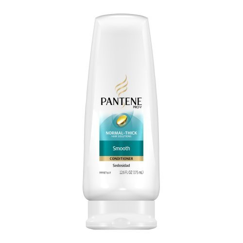 Pantene Pro-V Smooth Conditioner 12.6 Fl Oz (Pack Of 6) (Packaging May Vary)