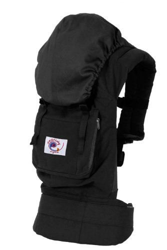 Ergo Baby Carrier - Organic Black With Solid Black Lining