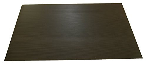 Rhino Mats SB436-3660 Corrugated Rubber Insulating Switchboard Mat, 3' Width x 5' Length x 1/4