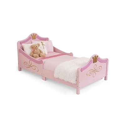 KidKraft Princess Junior Toddler Bed Plus Deluxe Foam Mattress