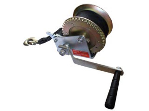 Marine Trailer Crank Hand Winch for Boats 1400 Lbs with Strap Manual-five Oceans