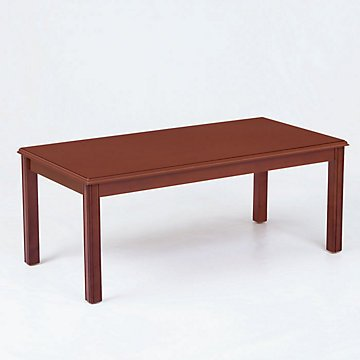 Solid Wood Traditional Coffee Table (Mahogany Finish)