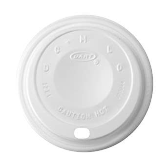 Dart 12EL White Cappuccino Lid For Foam Cups and Containers (Case of 1000)