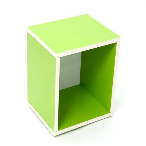 Modul-Würfelregal Standregal M73, 40x34x29 cm ~ grün, drehbar günstig