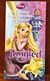 Disney Tangled (16) Valentine Cars with Envelopes and Erasers