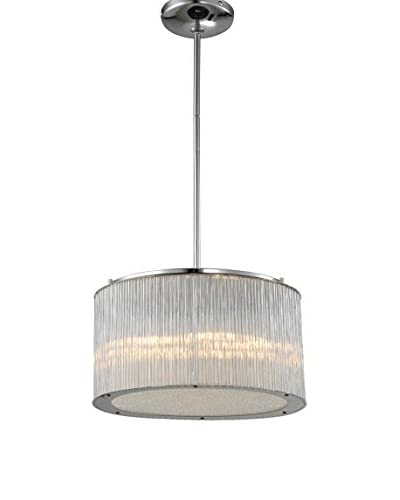 Alternating Current Array 5-Light Pendant, Polished Chrome/Glass