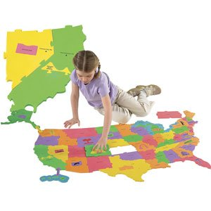 Buy Low Price Young Explorers Wonderfoam Giant USA Map Puzzle (B001QD9GSM)