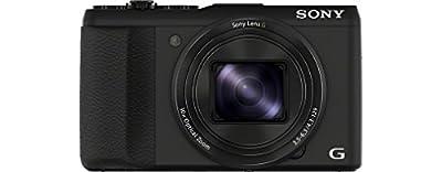 Sony DSC-HX50 Digitalkamera (20,4 Megapixel, 30-fach opt. Zoom, 7,6 cm (3 Zoll) LCD-Display, Full HD, WiFi) inkl. 24mm Sony G Weitwinkelobjektiv schwarz