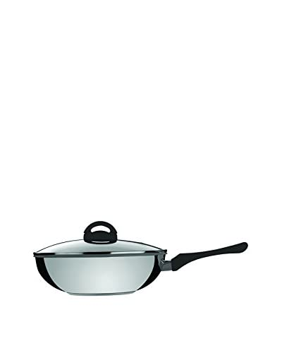 Mepra Fantasia Eco-Ceramic Wok with A Lid, Black