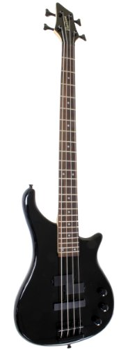 best black electric bass guitar full size with gig bag case best prices guitars electric. Black Bedroom Furniture Sets. Home Design Ideas