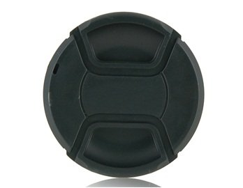Portable 67Mm Center-Pinch Snap-On Front Lens Cap For Canon Lens (Black)