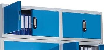 CP Rehausse pour armoire à portes battantes - h x l x p 500 x 1200 x 400 mm gris noir / aluminium - Armoire Armoire à porte battante Armoires Armoires à porte battante Rehausses pour armoires Armoire de bureau Armoire à portes