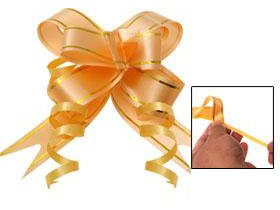 24 Pull String Bows - Instant Bow Ribbon, Gift Wrap Packing, 4 Different Sizes & Colors